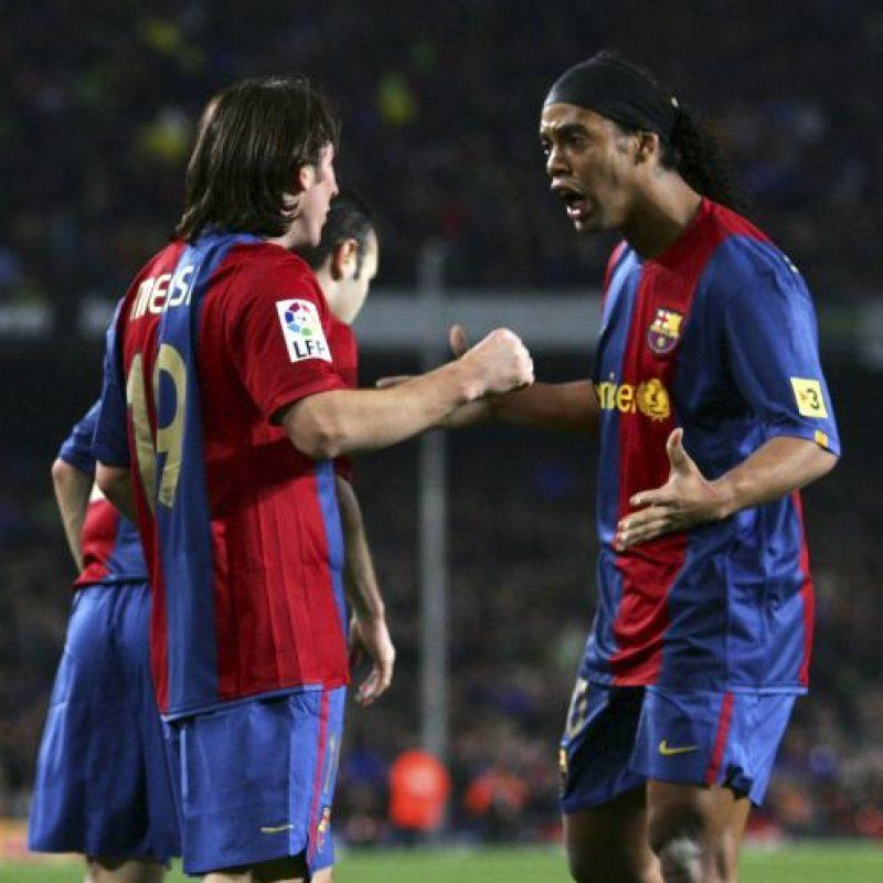 En 2008, Ronaldinho se fue del Barcelona… Foto:Getty Images