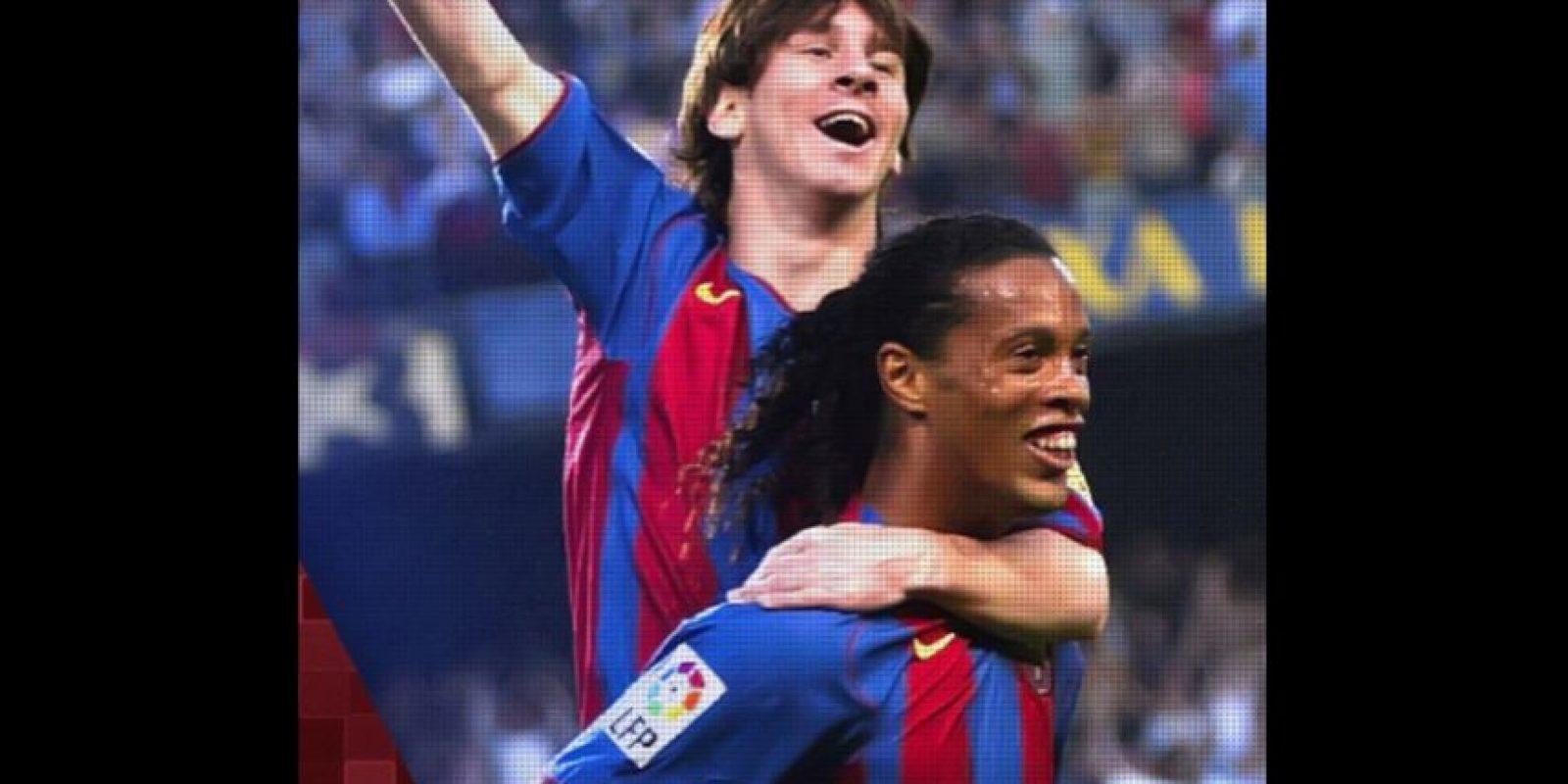 Lionel Messi y Ronaldinho compartieron vestidor en el Barcelona. Foto:Vía instagram.com/ronaldinhooficial