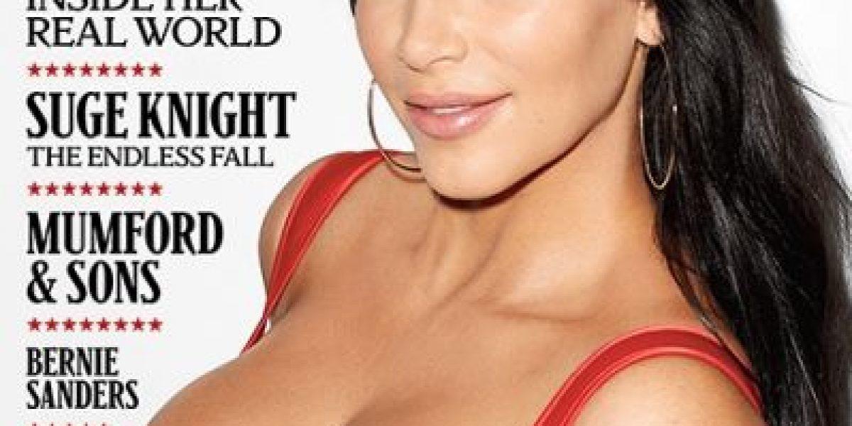 Kim Kardashian en la portada de la revista