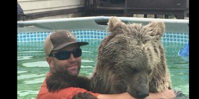 Este oso se llama Bruiser y al parecer le gusta nadar. Foto:Vía facebook.com/SingleVision
