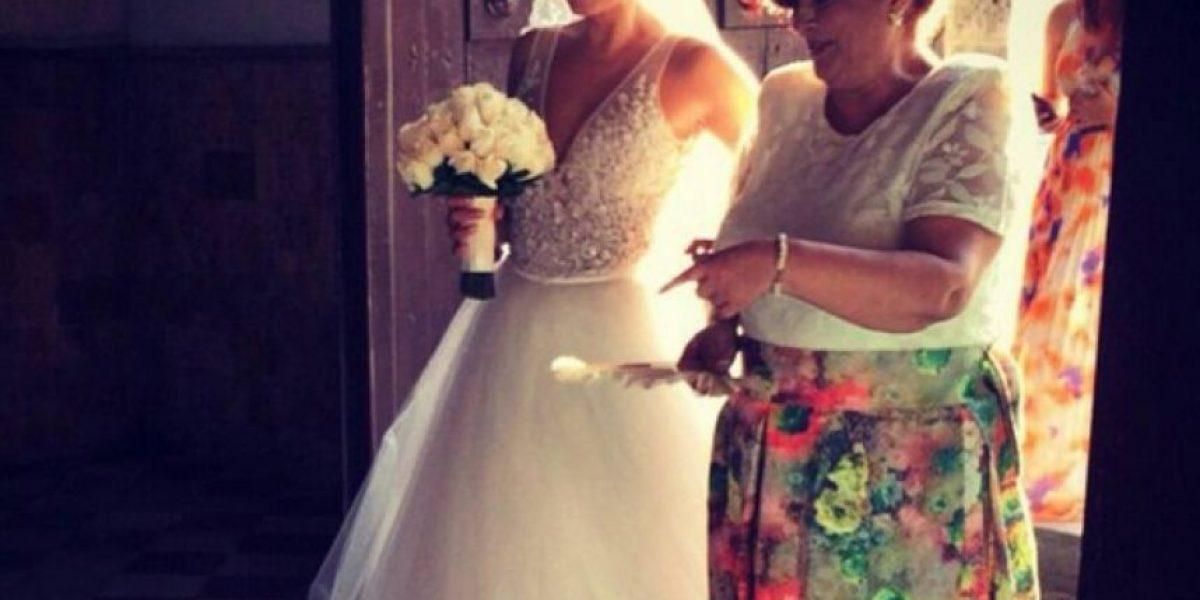 Milena López andaba furiosa el día de su matrimonio