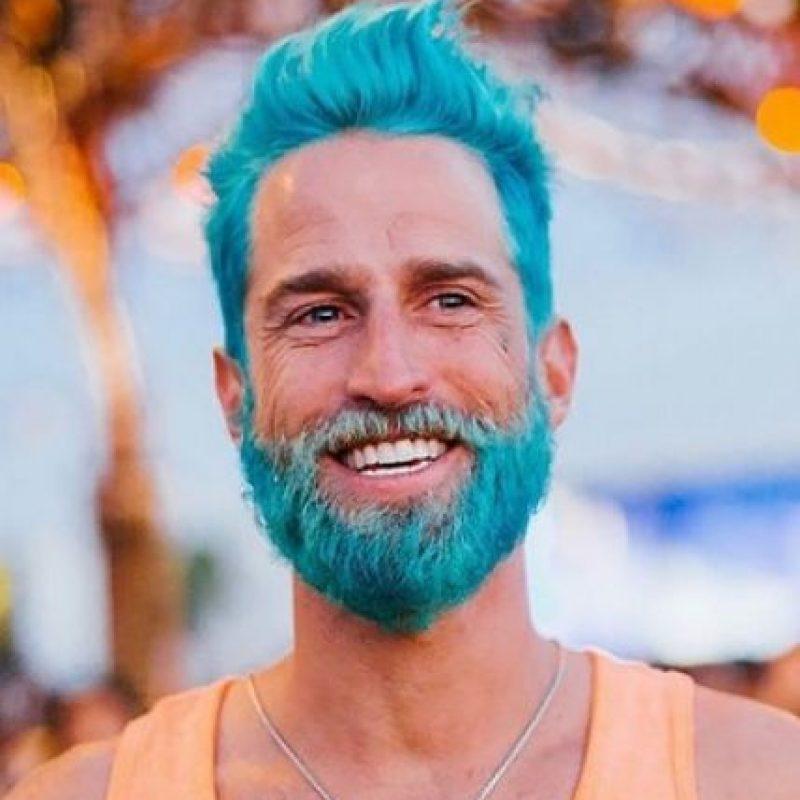 """5. """"Los sirenos"""": La nueva tendencia de moda entre hombres que pintan su barba de colores Foto:Instagram"""