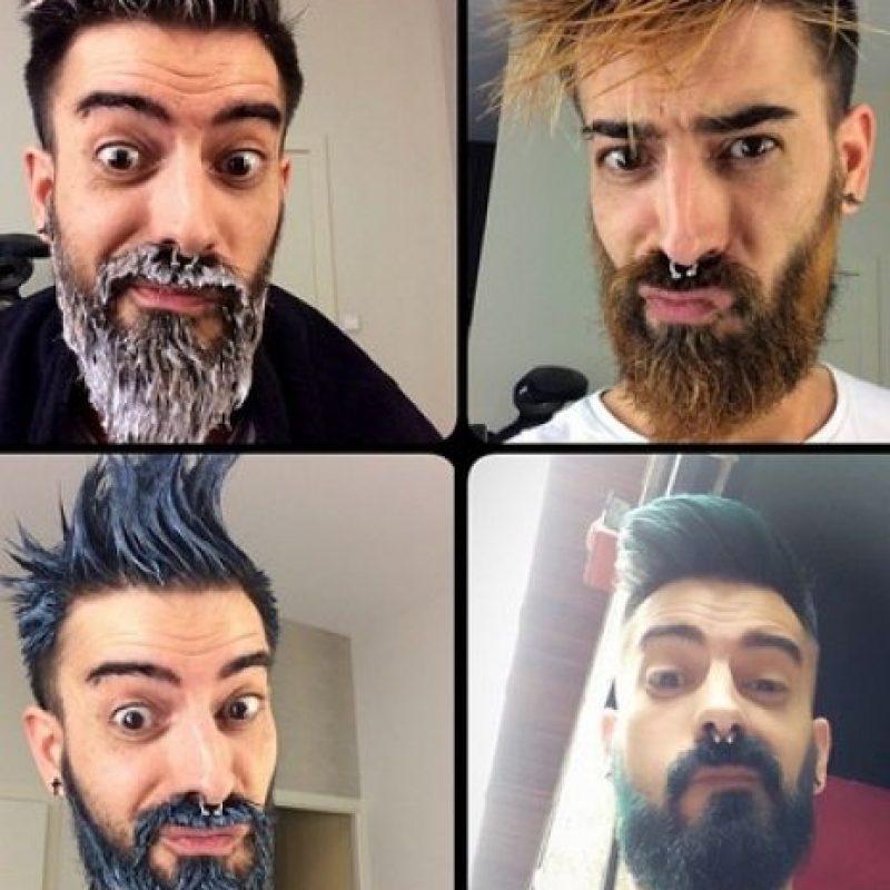 """Tiñen su barba de colores y en Instagram se pueden ver decenas de miles de imágenes como esta: Ellos son los """"merman"""", o """"sirenos"""". Se tiñen su cabello y barbas de colores. Y con esta tendencia están conquistando Estados Unidos y Europa. Foto:Instagram"""