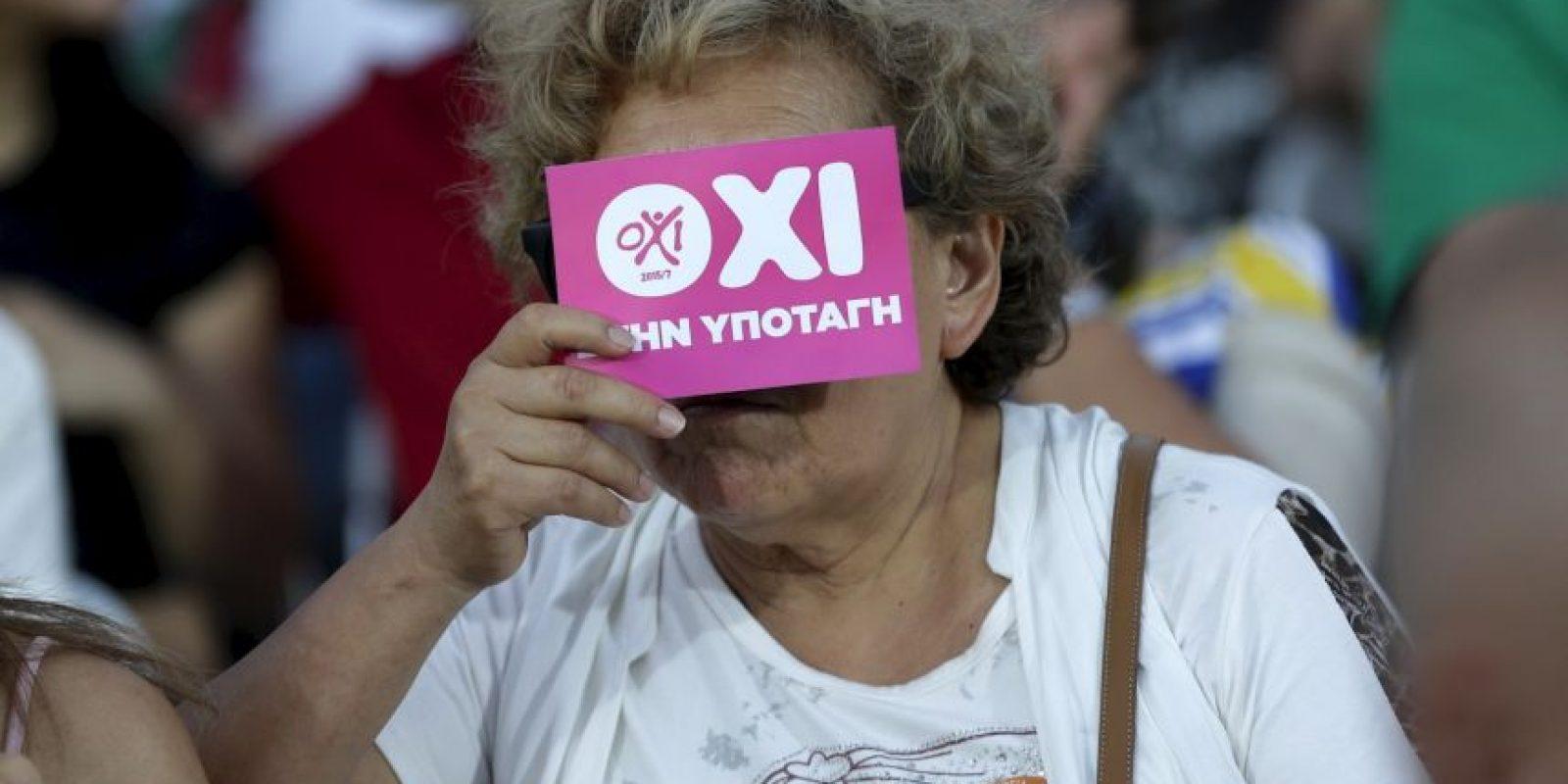 Este referendúm fue para decidir acerca de la propiedad dada por sus acreedores europeos. Foto:AP