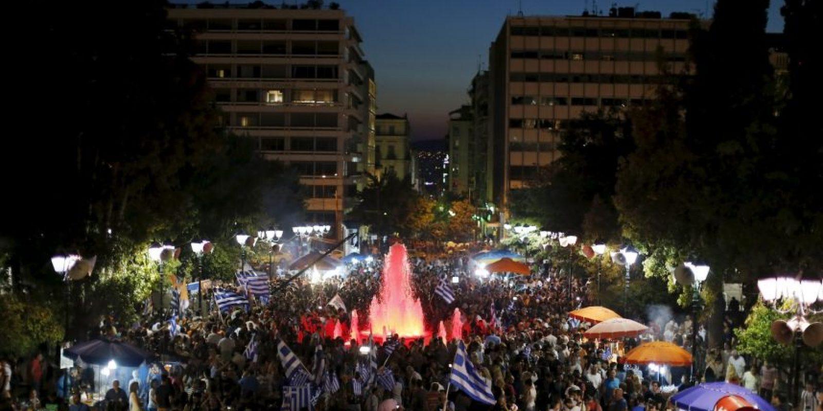 """Gana el """"no"""" en Grecia. Foto:AP"""