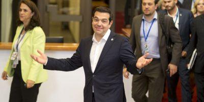El primer ministro Alexis Tsipras en Bruselas para negociar con el Eurogrupo Foto:AP