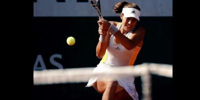 Se medirá en la final a la favorita Serena Williams Foto: Vía facebook.com/garbimuguruza