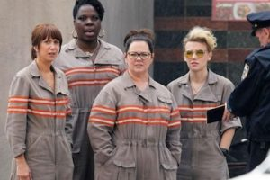 "Melissa McCarthy, Kristen Wiig, Leslie Jones y Kate McKinnon son el equipo de ""Las Cazafantasmas"". Foto:Twitter/machineiv"