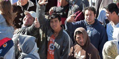 """""""Reclusión no es lo mismo que exclusión, porque la reclusión forma parte de un proceso de reinserción en la sociedad"""", les dijo Francisco. Foto:AFP"""