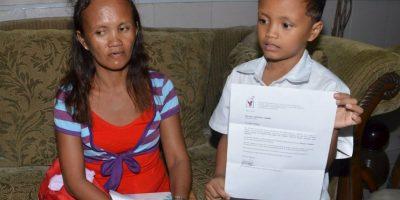 Su madre recibe donaciones de todo el mundo, tanto económicas como en especie Foto:AFP