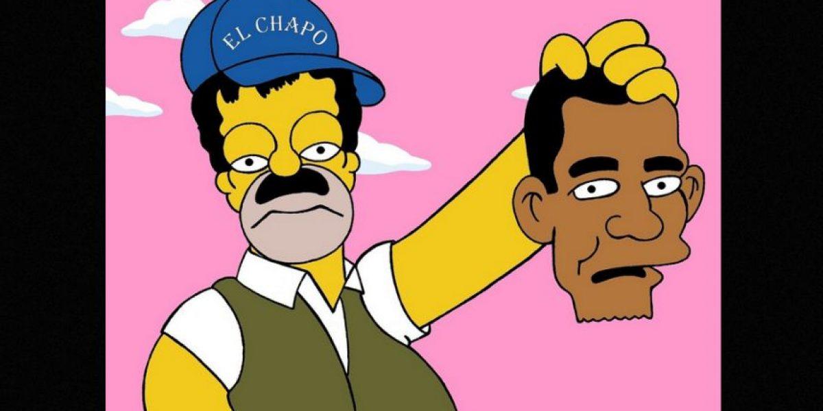 El día que Homero hizo del Chapo Guzmán... y Pablo Escobar