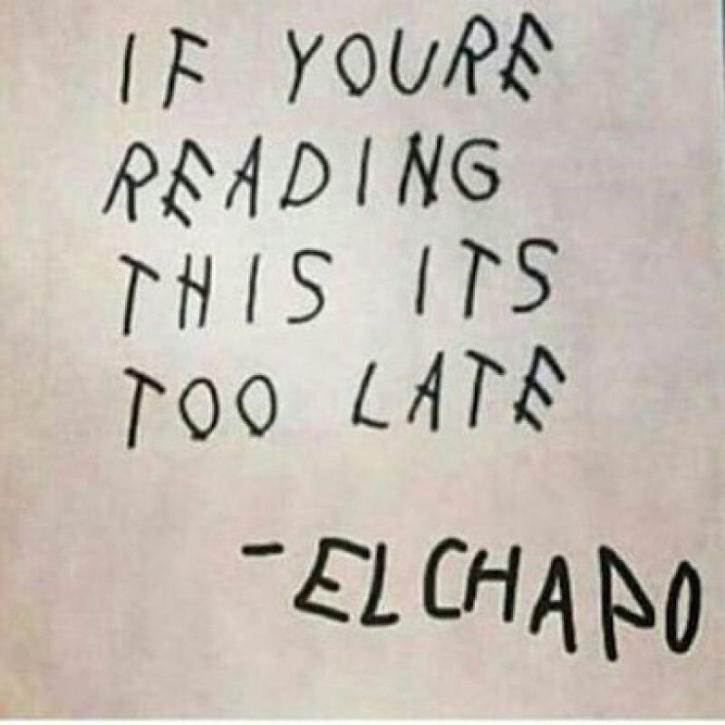 """""""Si estás leyendo esto, es muy tarde"""" Foto:Instagram.com – Archivo"""