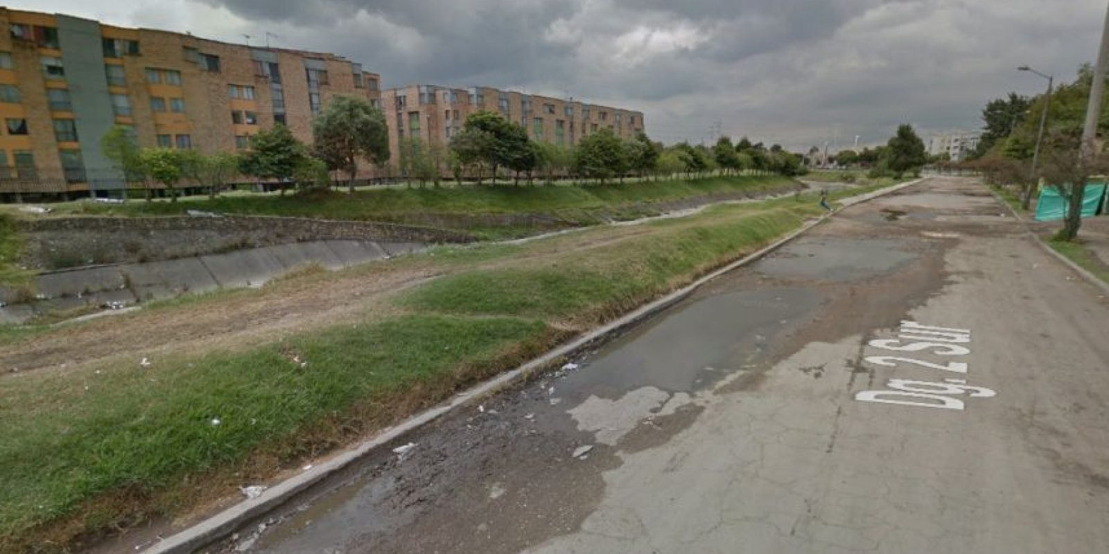 Calles intransitables en la localidad de Puente Aranda. Foto:Captura de pantalla Google Street View