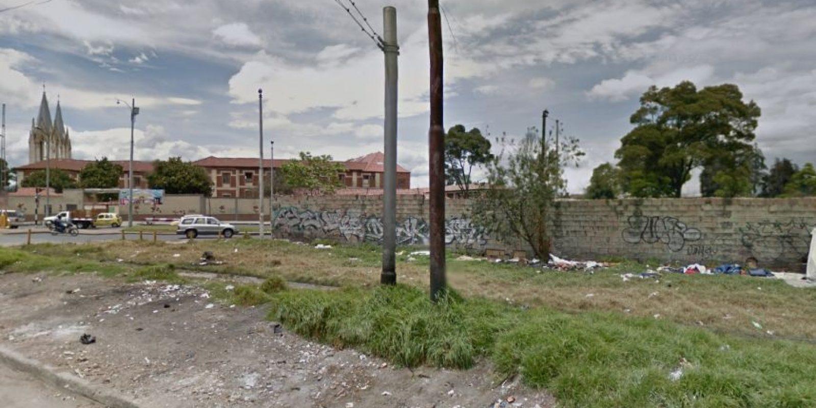Muchos de los andenes de Bogotá se convirtieron en basureros. Foto:Captura de pantalla Google Street View