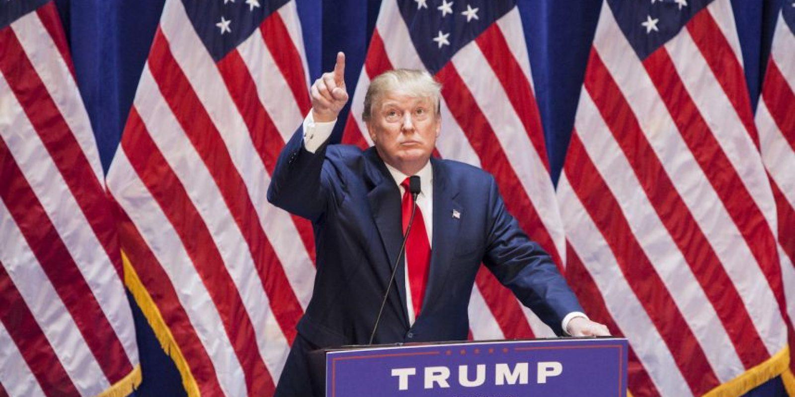 El empresario va liderando al grupo de los republicanos con un 17 por ciento a favor. Foto:Getty Images
