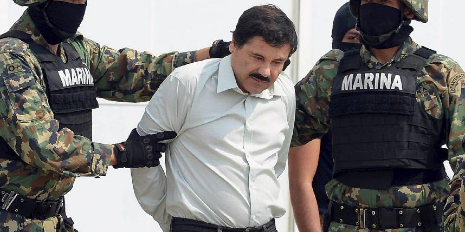 Durante la madrugada, Joaquín Guzmán fue capturado sin un solo disparo por miembros de la Marina Armada de México. Foto:AP