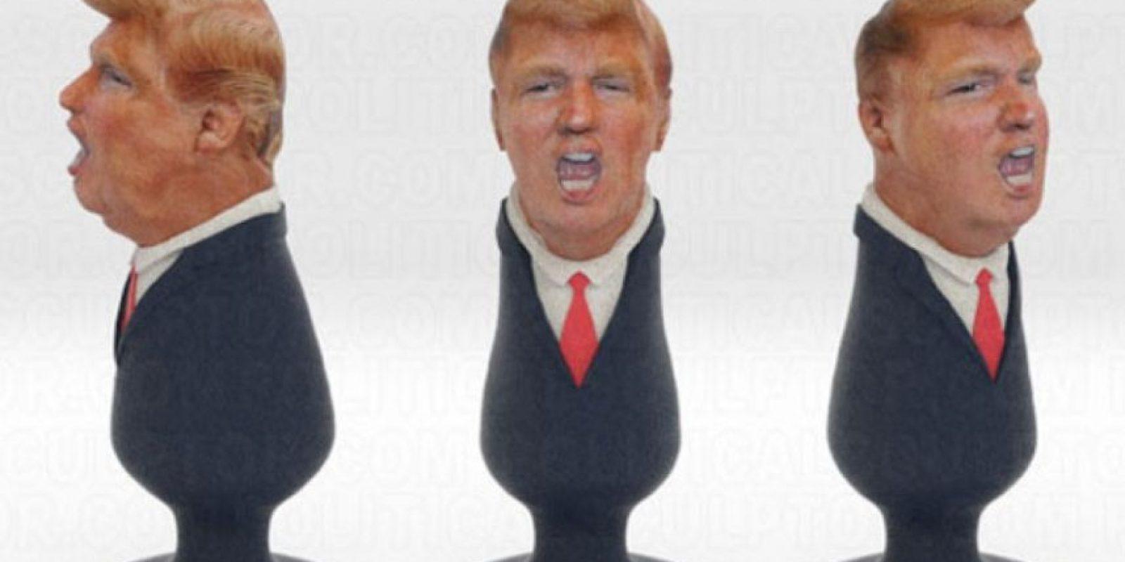 Candidato a la presidencia de Estados Unidos, Donald Trump Foto:Vía Twitter: @politicalsculpt