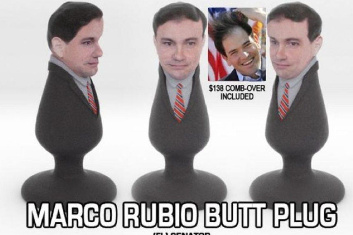 Marco Rubio, senador del estado de Florida Foto:Vía Twitter: @politicalsculpt