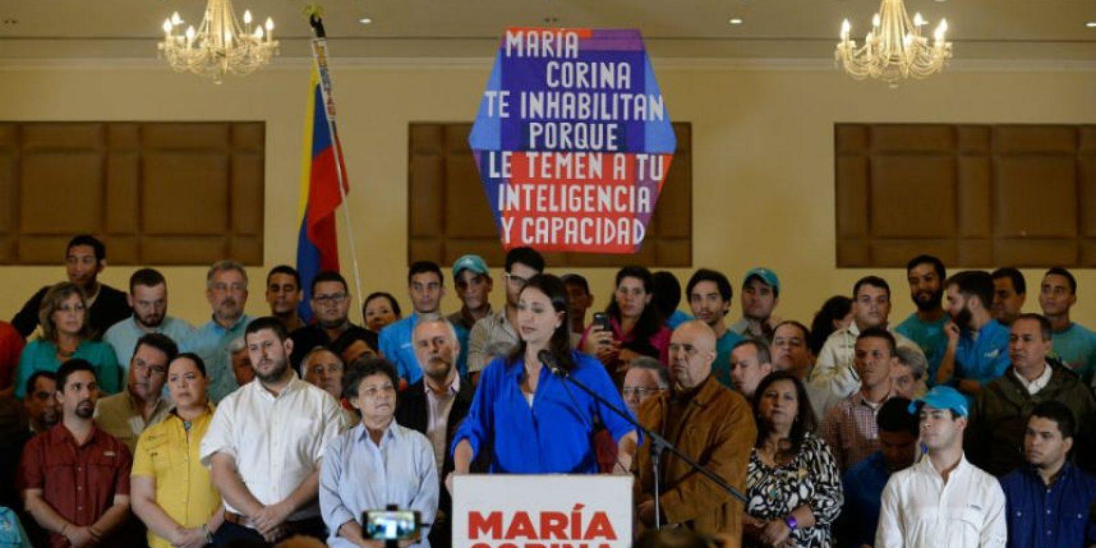 Machado es la segunda opositora del gobierno venezolano con problemas para participar en las elecciones. Foto:AFP