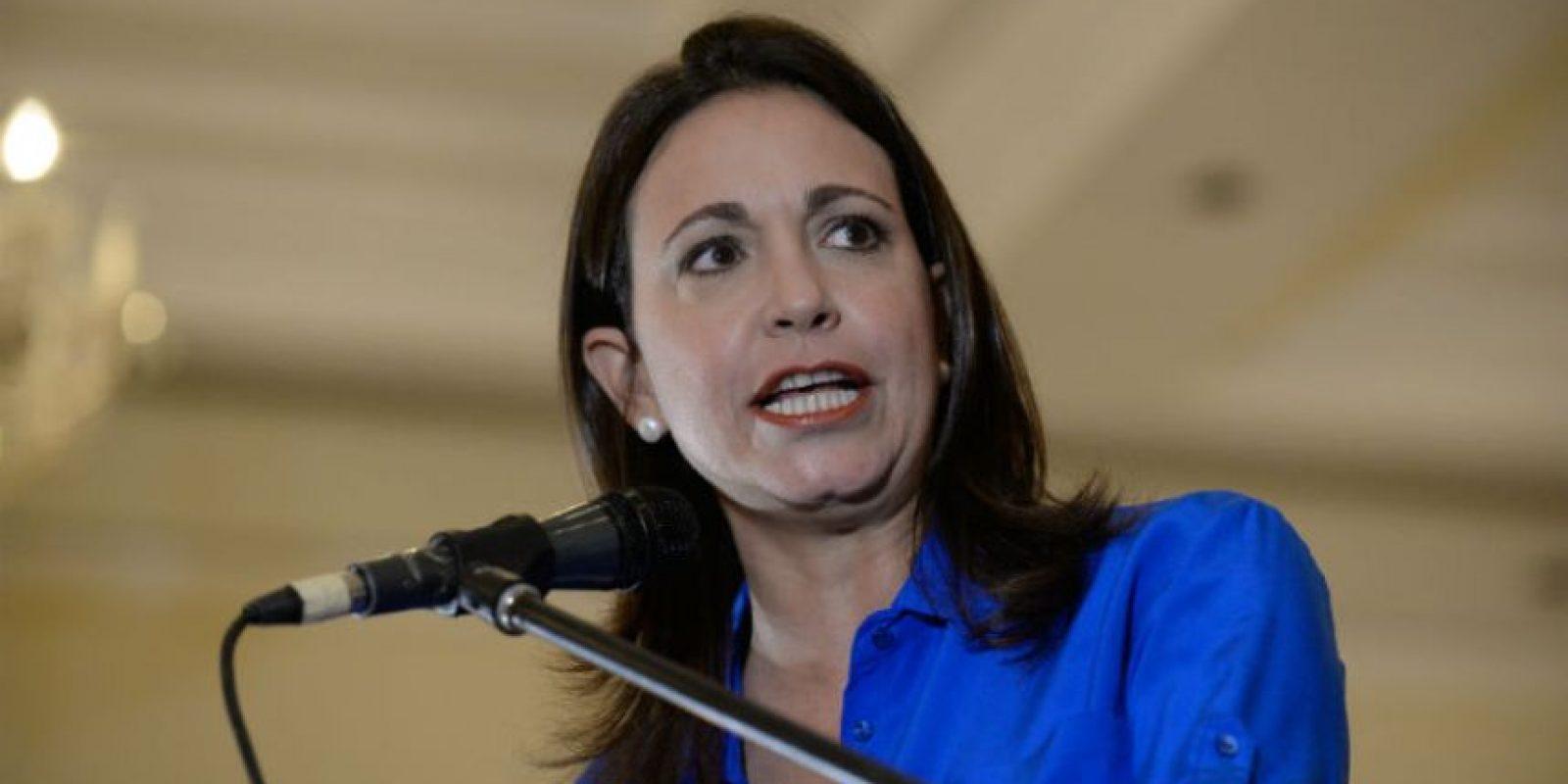 María Corina Machado fue inhabilitada de ocupar cualquier cargo político. Foto:AFP