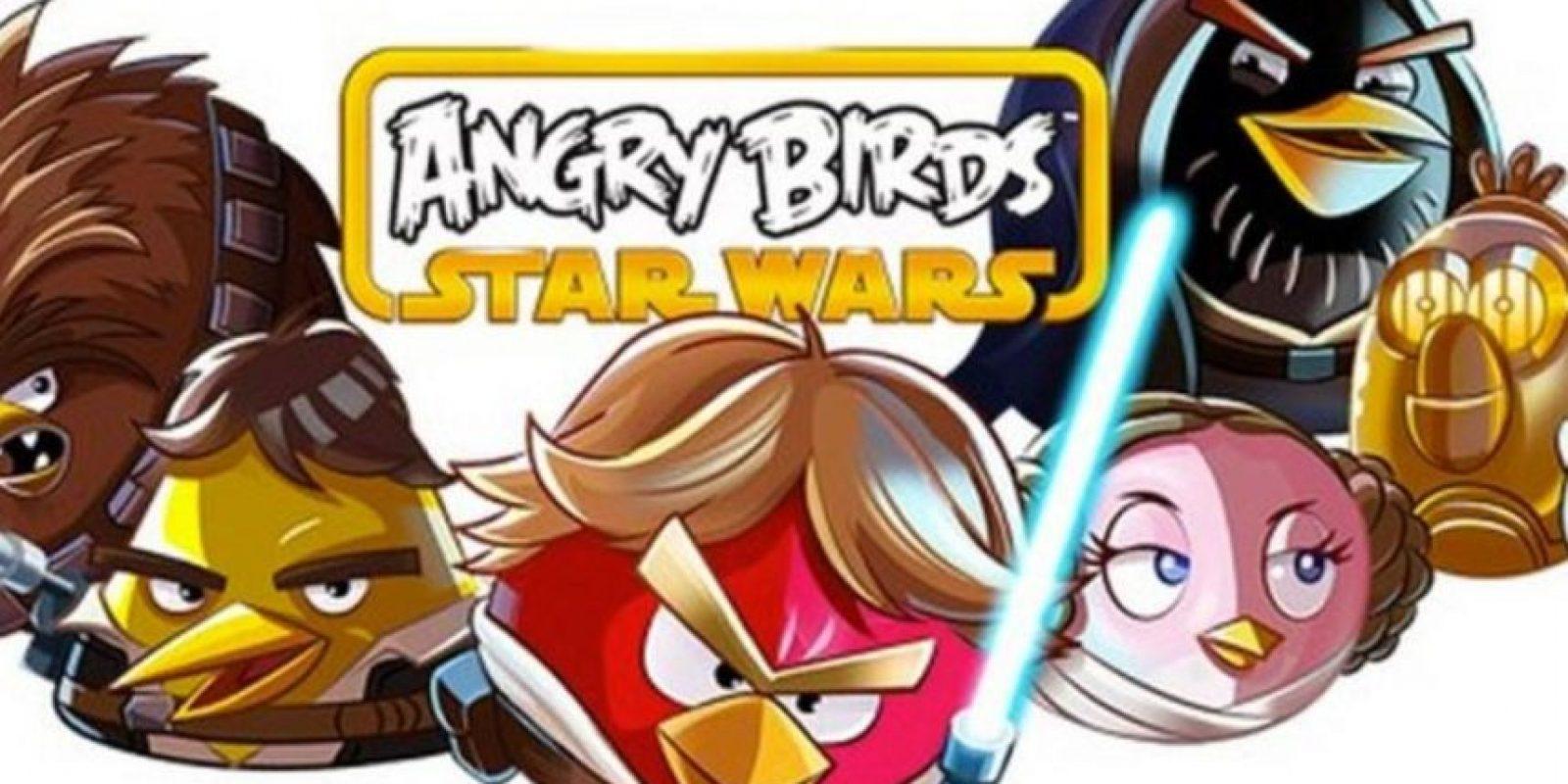 """Con personajes basados en la popular saga de películas """"Star Wars"""". Foto:Rovio"""