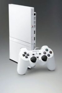 PlayStation 2 Slim color blanco. Foto: Sony