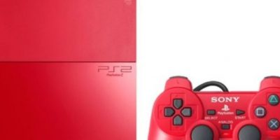 PlayStation 2 Slim color rojo. Foto: Sony