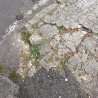 Este andén está en pésimas condiciones. Foto:Twitter @Paradita