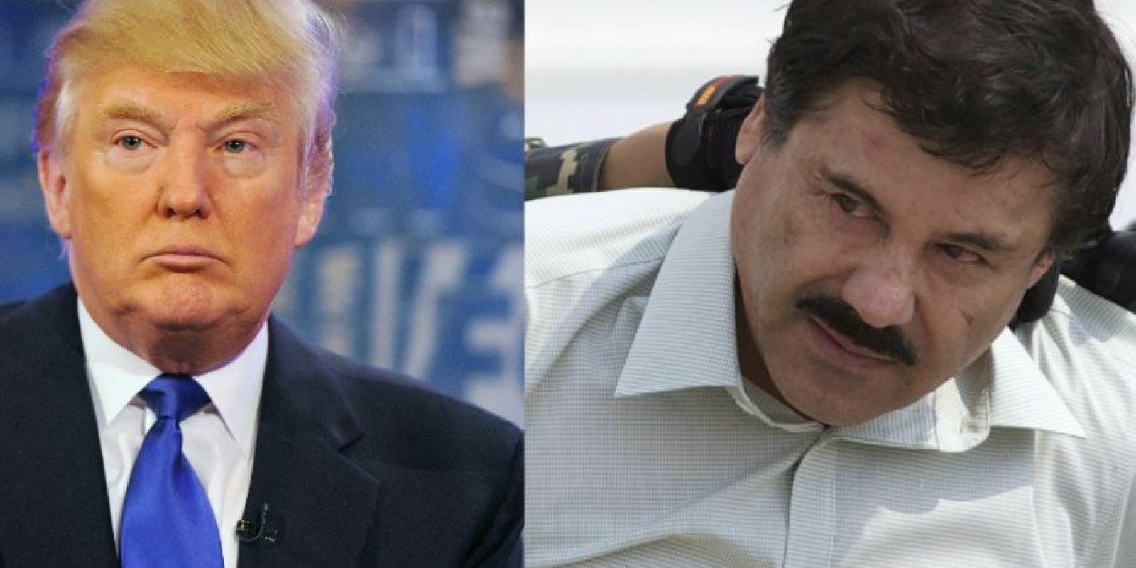"""1. Trump """"amenazado"""" por Joaquín Guzmán """"El Chapo"""" Foto:Getty Images"""