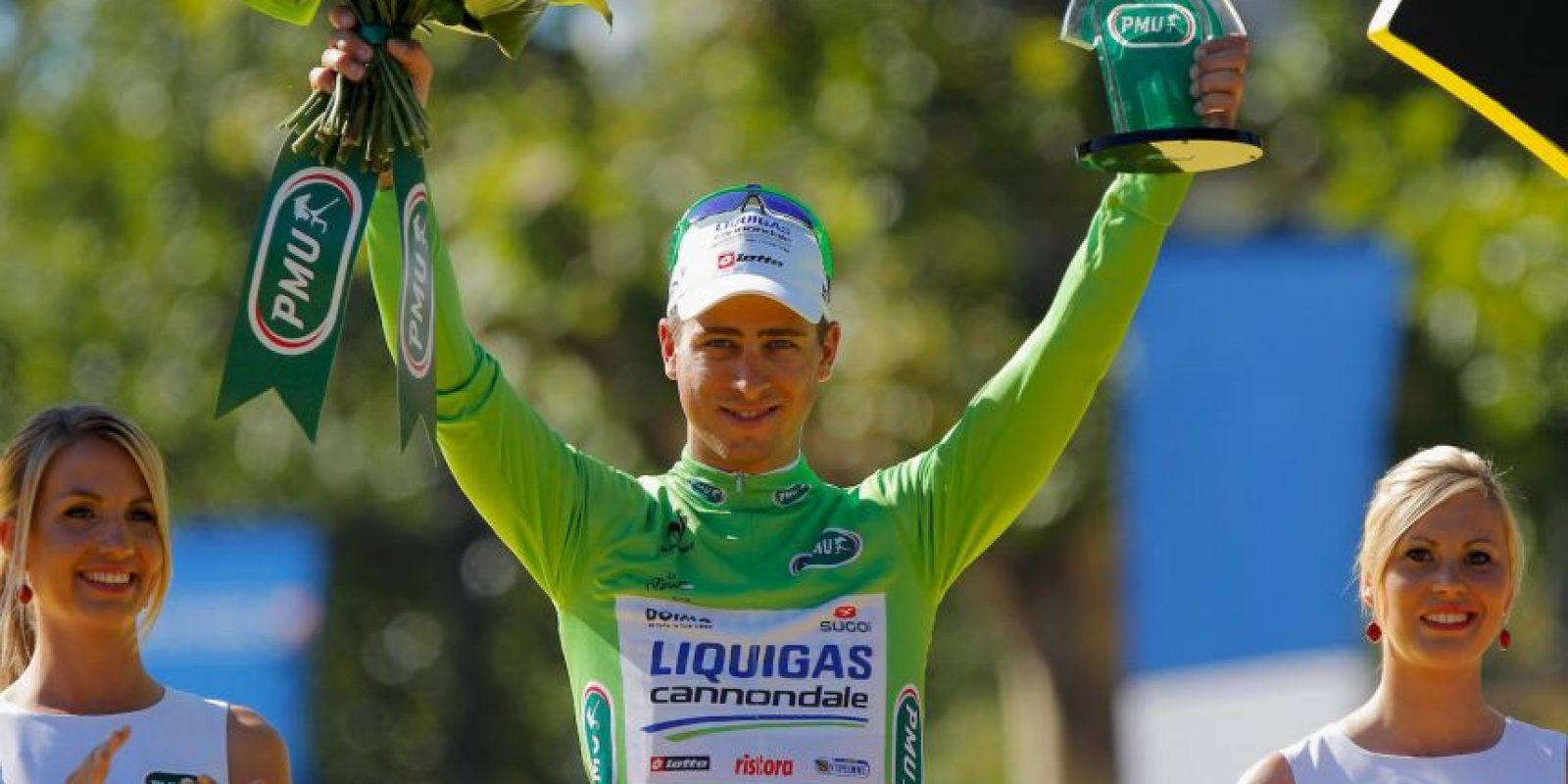 Lo porta el líder de la clasificación en puntos. Foto:Getty Images