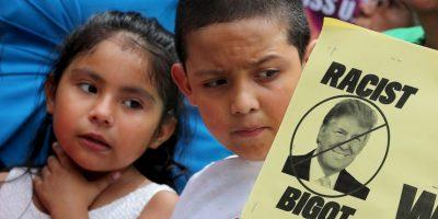 """El empresario fue acusado de racismo desde que lanzó su campaña presidencial por señalar que los mexicanos """"son violadores"""". Foto:Getty Images"""