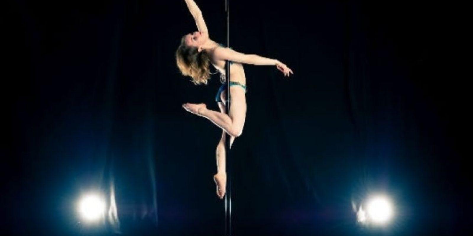 El pole dance también implica gran esfuerzo Foto:Pinterest