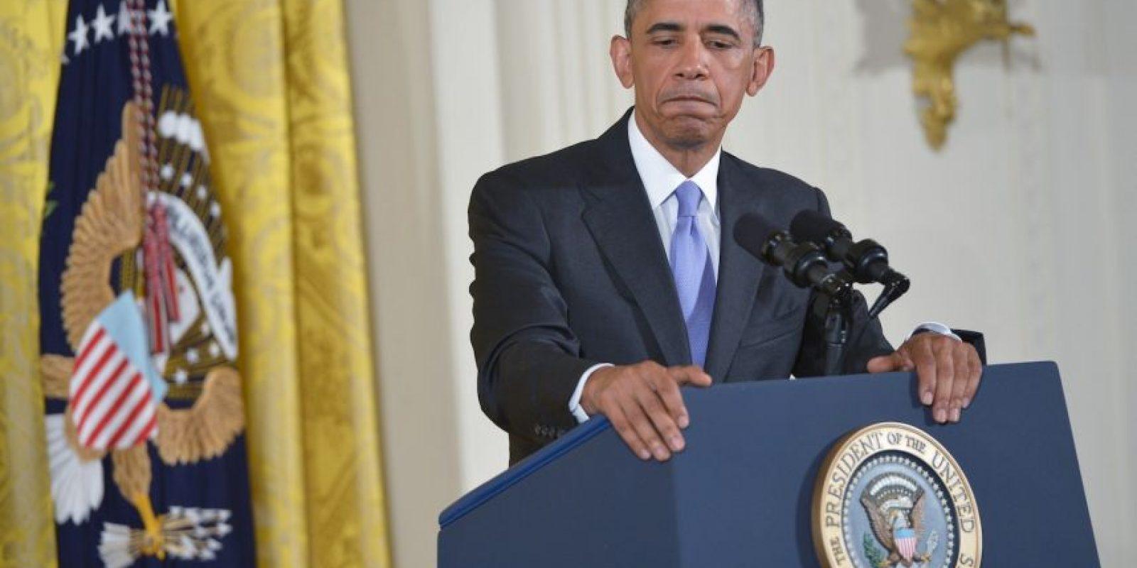 """Obama describió la pregunta como """"sin sentido"""". Foto:AFP"""