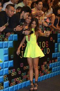 La modelo mexicana atrajó todas las miradas con este vestido corto Foto:Getty Images
