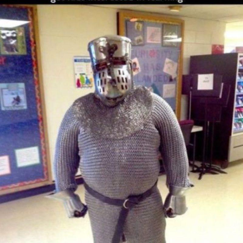 El caballero de brillante armadura. Foto:vía Imgur