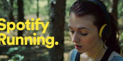En mayo, Spotify lanzó Running, la app para los corredores que mezcla el deporte con la música Foto:Spotify