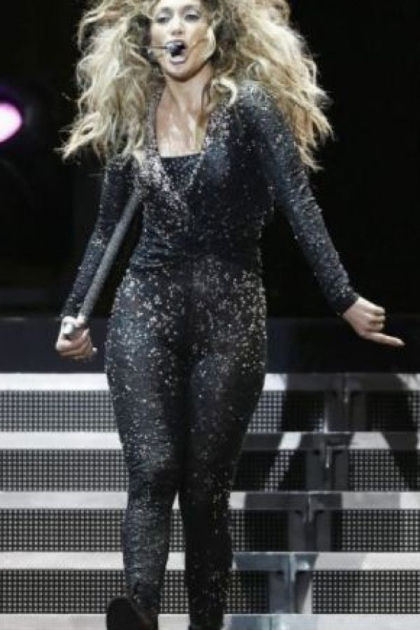 "5. JLo luciendo este estilo en su gira ""Dance Again"" en 2012. Foto: Getty Images"