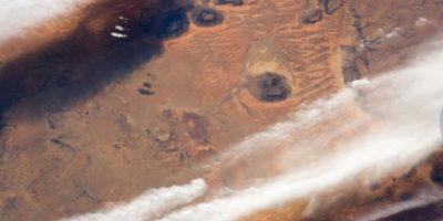 Las nubes de los desiertos al sur de Mauritania, desde la Estación Espacial Internacional. Foto:Vía nasa.gov