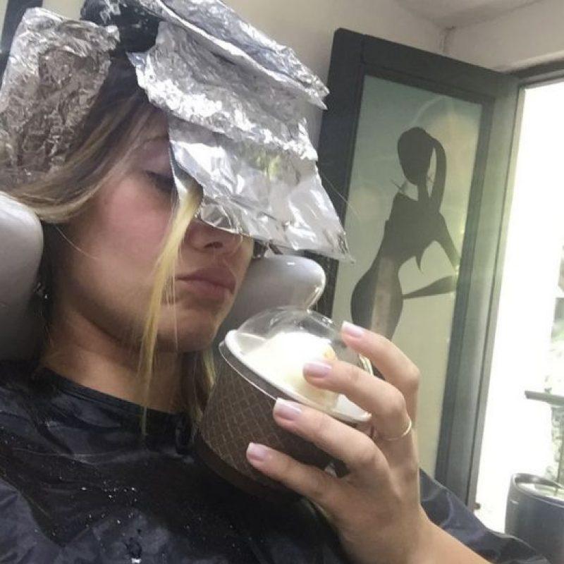 Acá mostró su paso por la peluqueria. Foto:Instagram Manuela Gómez