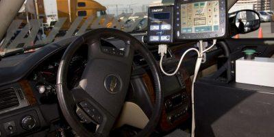 """Microsoft presentó, en 2014, durante la conferencia BUILD, su visión de los coches inteligentes: """"Windows in the Car"""" (nombre provisional) Foto:Getty Images"""