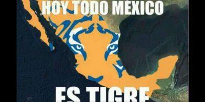 En México se sintió el apoyo a Tigres… Foto:memedeportes.com