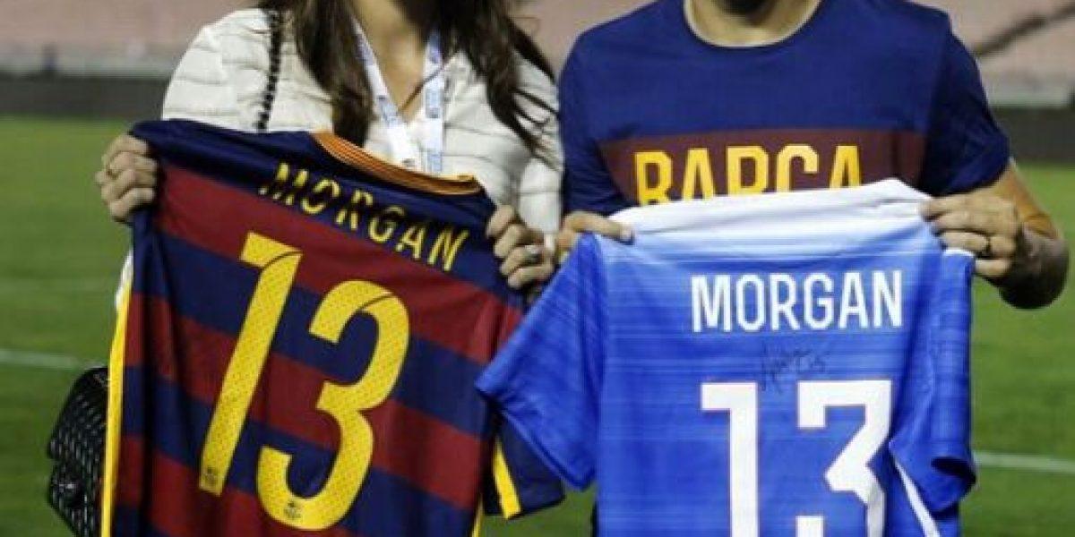 Encuentro de cracks: Alex Morgan y Andrés Iniesta intercambiaron camisetas