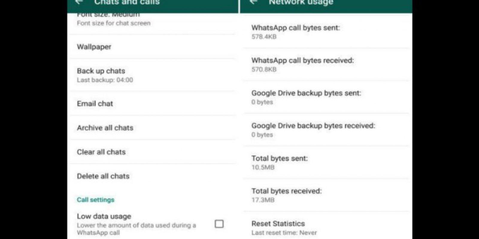 También llegó la nueva herramienta para ahorrar datos en la llamadas por esta aplicación. Foto:WhatsApp