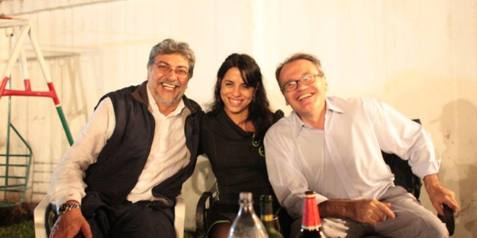 Con Fernando Lugo, quien fuera presidente de Paraguay. Foto:victoriadondaperez.org.ar