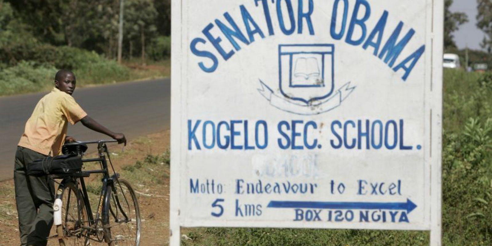 """Existe una escuela con el nombre """"Senador Obama"""" Foto:AP"""