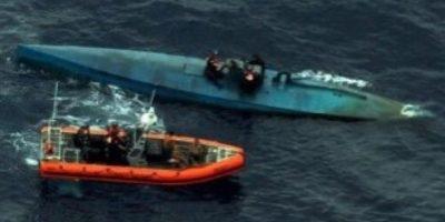 El narcosubmarino fue interceptado en costas de El Salvador. Foto:Vía cbp.gov