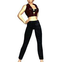 "Representando al juego de peleas ""Tekken"" tenemos a ""Nina Williams"" Foto:Namco / Bandai"