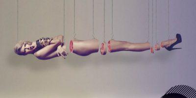 Mujer descuartizada para campaña de Blender. Foto:vía Blender.