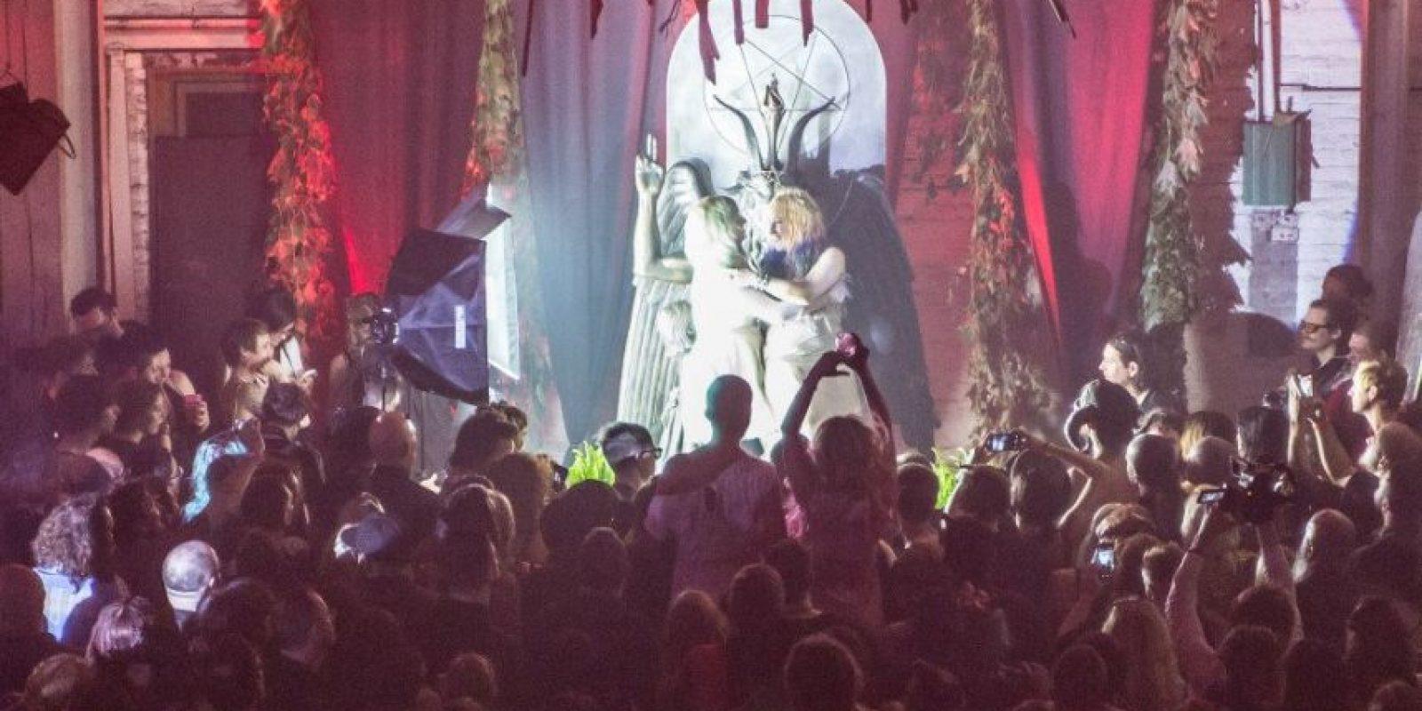 """Su misión era """"contrarrestar"""" el monumento de los Diez Mandamientos Foto:Facebook.com/TheSatanicTempleDetroit"""