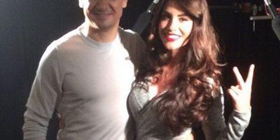 Jessica Cediel entrevistó a Jeremy Renner Foto:Instagram Jessica Cediel